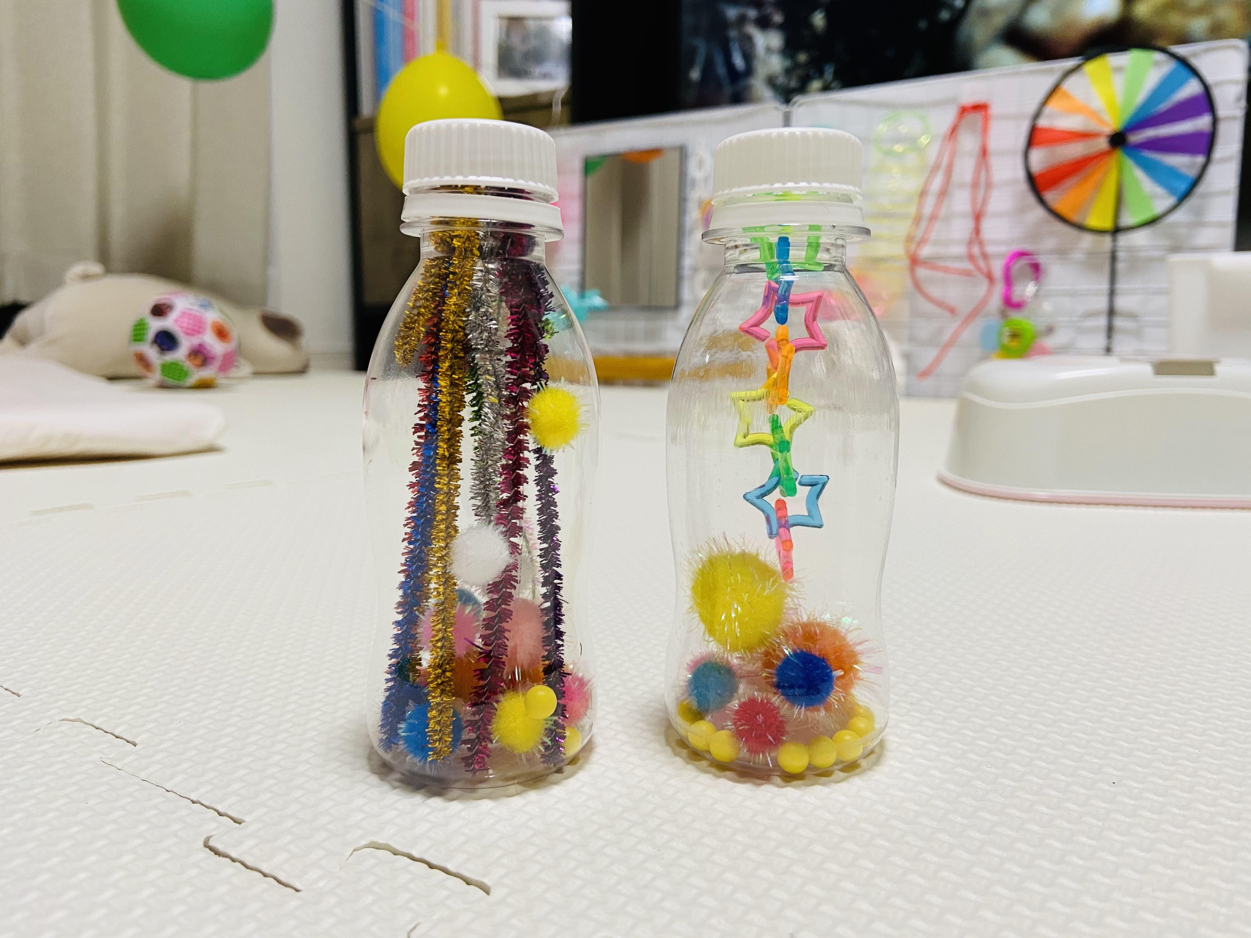 手作りペットボトル玩具